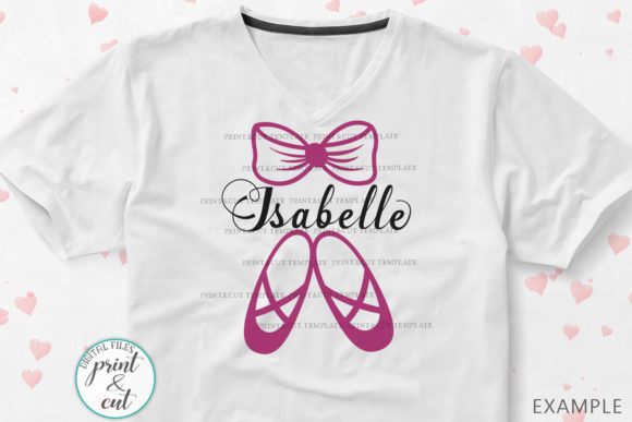 Download Free Ballet Shoes Monogram Svg Graphic By Cornelia Creative Fabrica for Cricut Explore, Silhouette and other cutting machines.