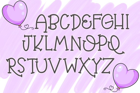 Print on Demand: Balloon Butt Serif Font By SugarBearStudio - Image 2