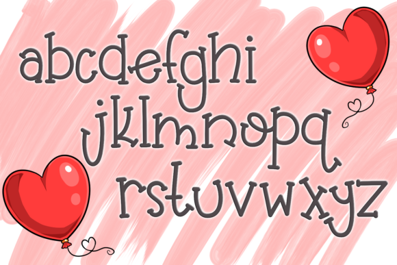 Print on Demand: Balloon Butt Serif Font By SugarBearStudio - Image 3