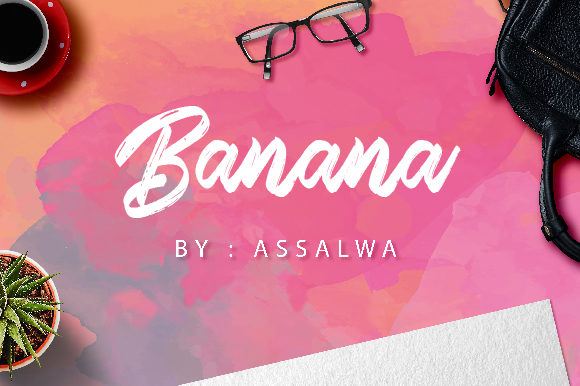 Print on Demand: Banana Script & Handwritten Font By assalwaassalwa