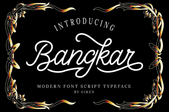 Print on Demand: Bangkar Script & Handwritten Font By blackkido597