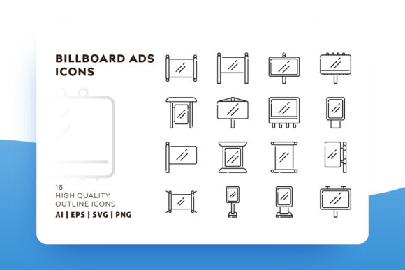 Print on Demand: Banner and Billboard Icon Graphic Icons By Goodware.Std