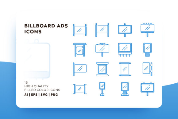 Print on Demand: Banner and Billboard Icon Pack Graphic Icons By Goodware.Std - Image 1