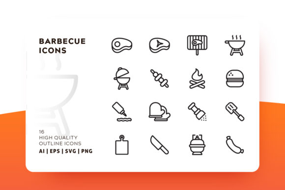 Barbecue and Grill Icon Pack Graphic Icons By Goodware.Std
