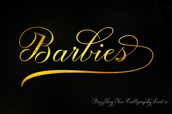 Print on Demand: Barbies Script Script & Handwritten Font By luckytype.font