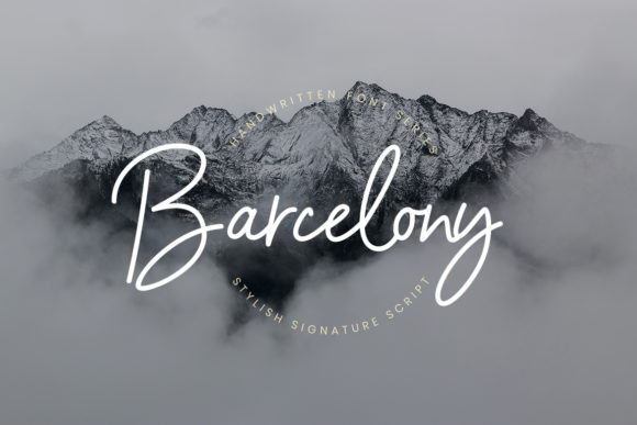 Print on Demand: Barcelony Script & Handwritten Font By CreatypeStudio