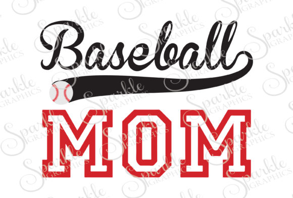 Download Free Baseball Mom Cut File Graphic By Sparkle Graphics Creative Fabrica for Cricut Explore, Silhouette and other cutting machines.