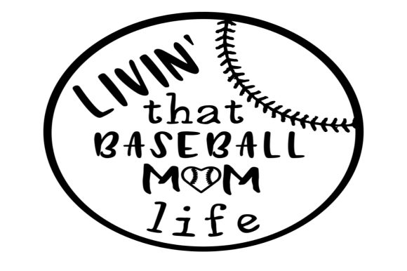 Download Free Baseball Mom Life Graphic By Jessica Schreier Creative Fabrica for Cricut Explore, Silhouette and other cutting machines.