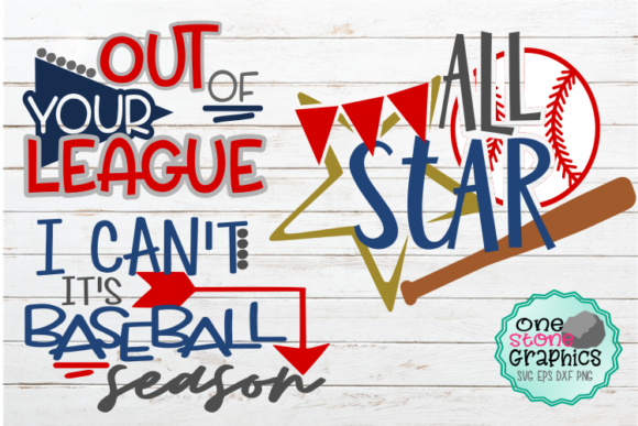 Baseball Bundle Svg Graphic Crafts By OneStoneGraphics