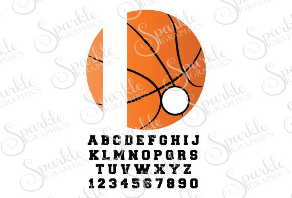 Download Free Basketball Monogram Frame Graphic By Sparkle Graphics Creative for Cricut Explore, Silhouette and other cutting machines.