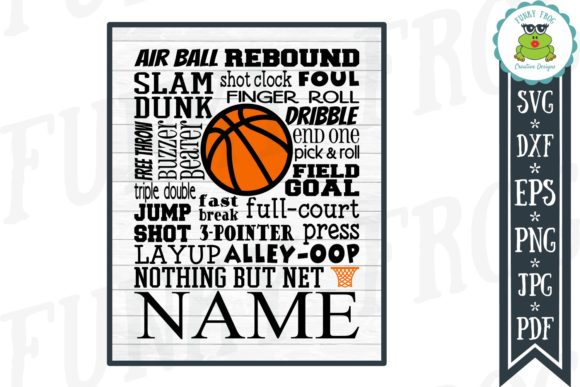 Download Free Basketball Subway Art Svg Graphic By Funkyfrogcreativedesigns for Cricut Explore, Silhouette and other cutting machines.