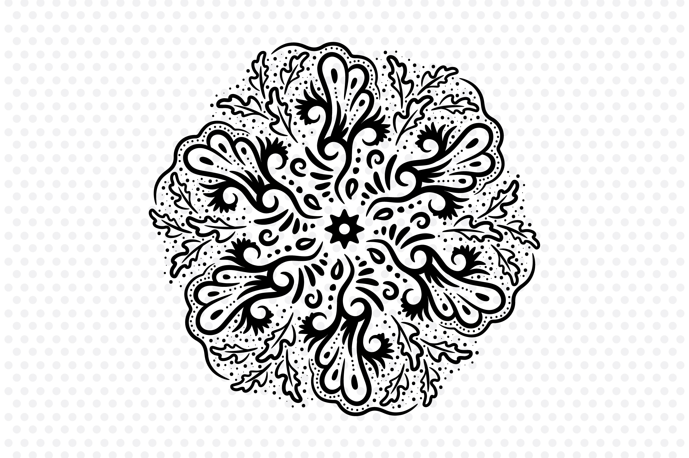 Download Free Batik Mandala Graphic By Izacuite Creative Fabrica for Cricut Explore, Silhouette and other cutting machines.