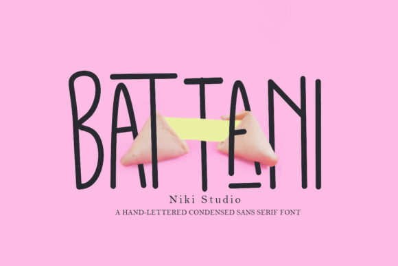 Print on Demand: Battani Sans Serif Fuente Por Niki Studio