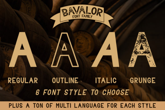 Print on Demand: Bavalor Family Sans Serif Font By dmletter31 - Image 2