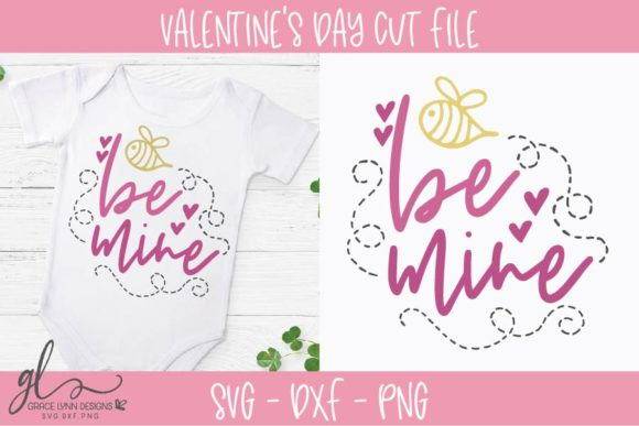 Be Mine - Valentine's Day SVG Graphic Crafts By GraceLynnDesigns