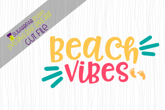 Beach Vibes SVG Graphic Crafts By SugarBearStudio