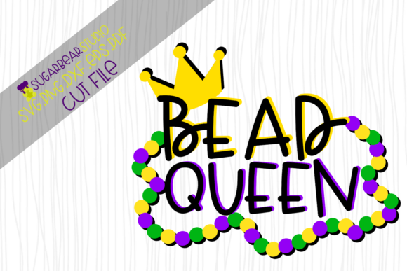 Bead Queen SVG Graphic Crafts By SugarBearStudio - Image 1