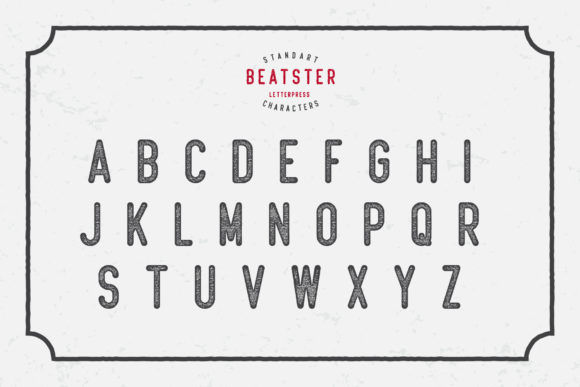 Print on Demand: Beatster Display Font By MuSan - Image 3