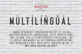 Print on Demand: Beatster Display Font By MuSan 4