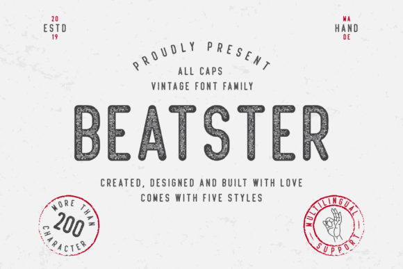 Print on Demand: Beatster Display Font By MuSan
