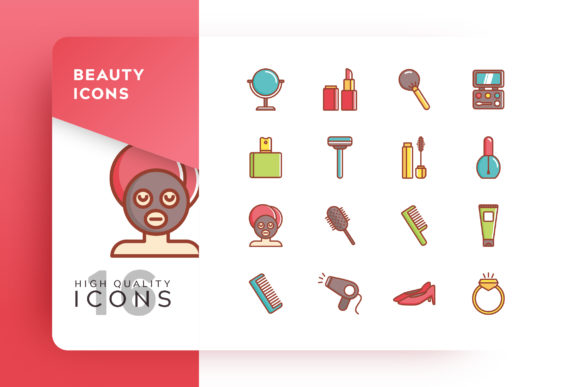Beauty Icon Pack Graphic By Goodware.Std Image 1