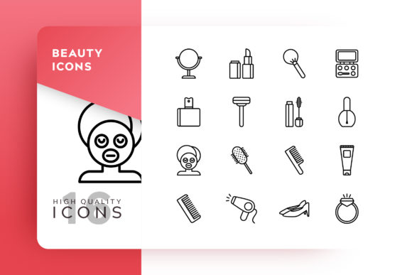 Beauty Icon Pack Graphic Free Download