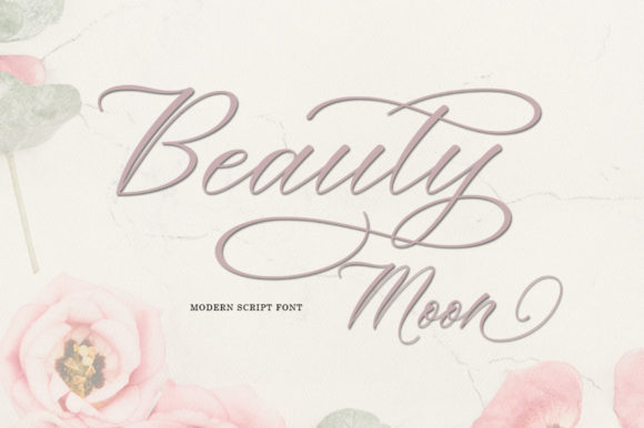 Print on Demand: Beauty Moon Script Script & Handwritten Font By Zane Studio - Image 2