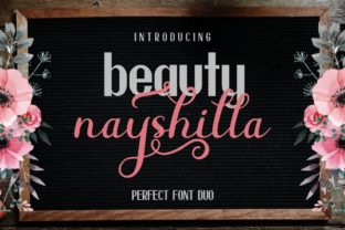 Beauty Nayshilla Duo Font By MJB Letters