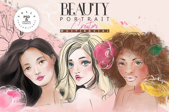 Print on Demand: Beauty Portrait Creator Graphic Illustrations By Anna Babich