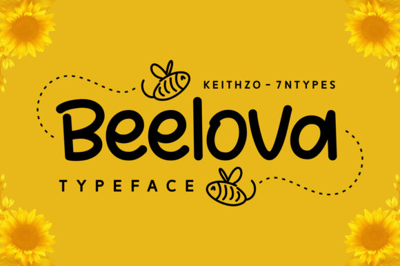 Print on Demand: Beelova Script & Handwritten Font By Keithzo (7NTypes) - Image 1
