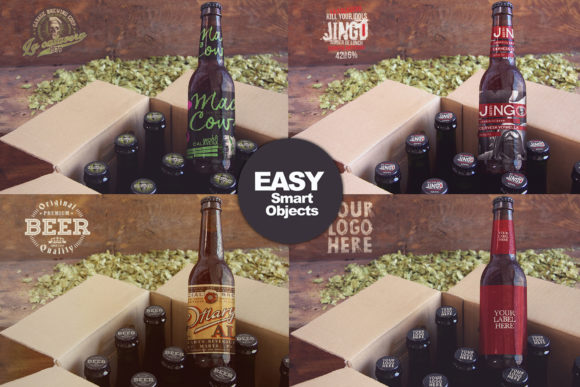 Download Free Beer Box Mockup Graphic By Smartdesigns Creative Fabrica for Cricut Explore, Silhouette and other cutting machines.
