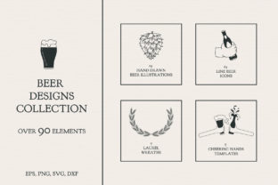 Beer Designs Collection Graphic By Kirill's Workshop