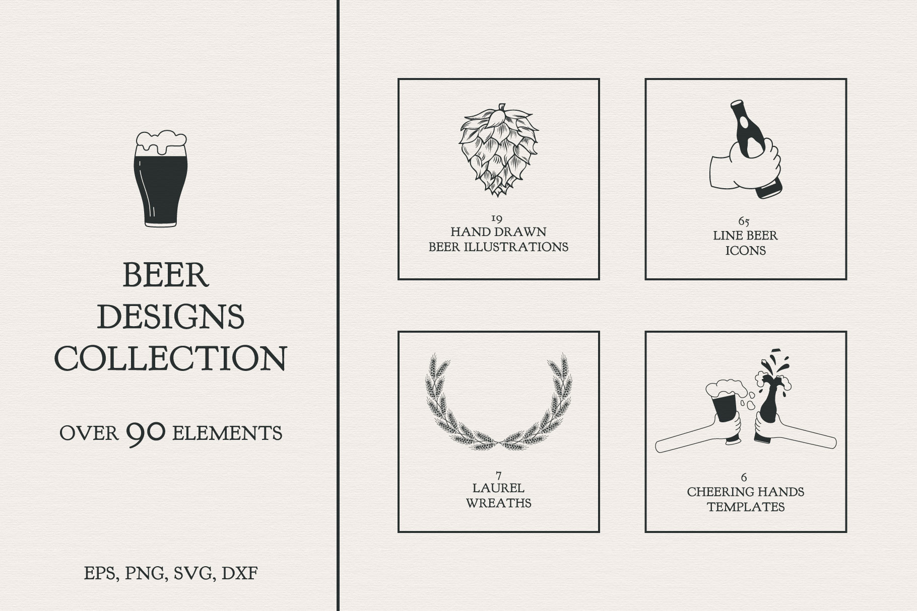 Download Free Beer Designs Collection Grafico Por Kirill S Workshop Creative for Cricut Explore, Silhouette and other cutting machines.