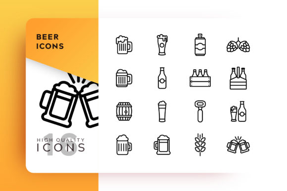 Print on Demand: Beer Icon Pack Graphic Icons By Goodware.Std