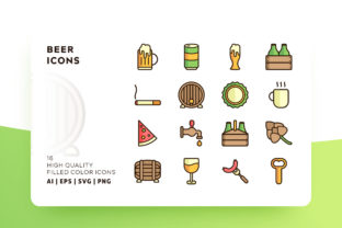 Beer Icons Filled Graphic By Goodware.Std