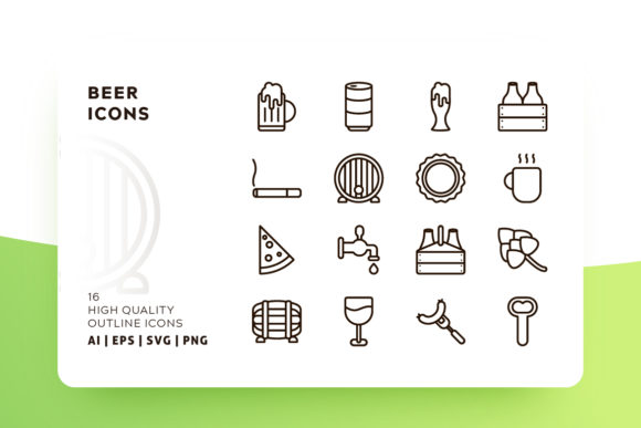 Beer Icons Graphic Icons By Goodware.Std