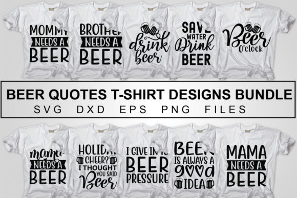 Print on Demand: Beer T Shirt Designs Bundle Pack Graphic Crafts By svgbundle.net