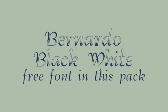 Print on Demand: Bernardo Family Display Font By Intellecta Design - Image 4
