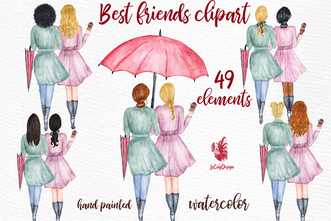 Download Free Best Friends Soul Sisters Clipart Graphic By Lecoqdesign for Cricut Explore, Silhouette and other cutting machines.