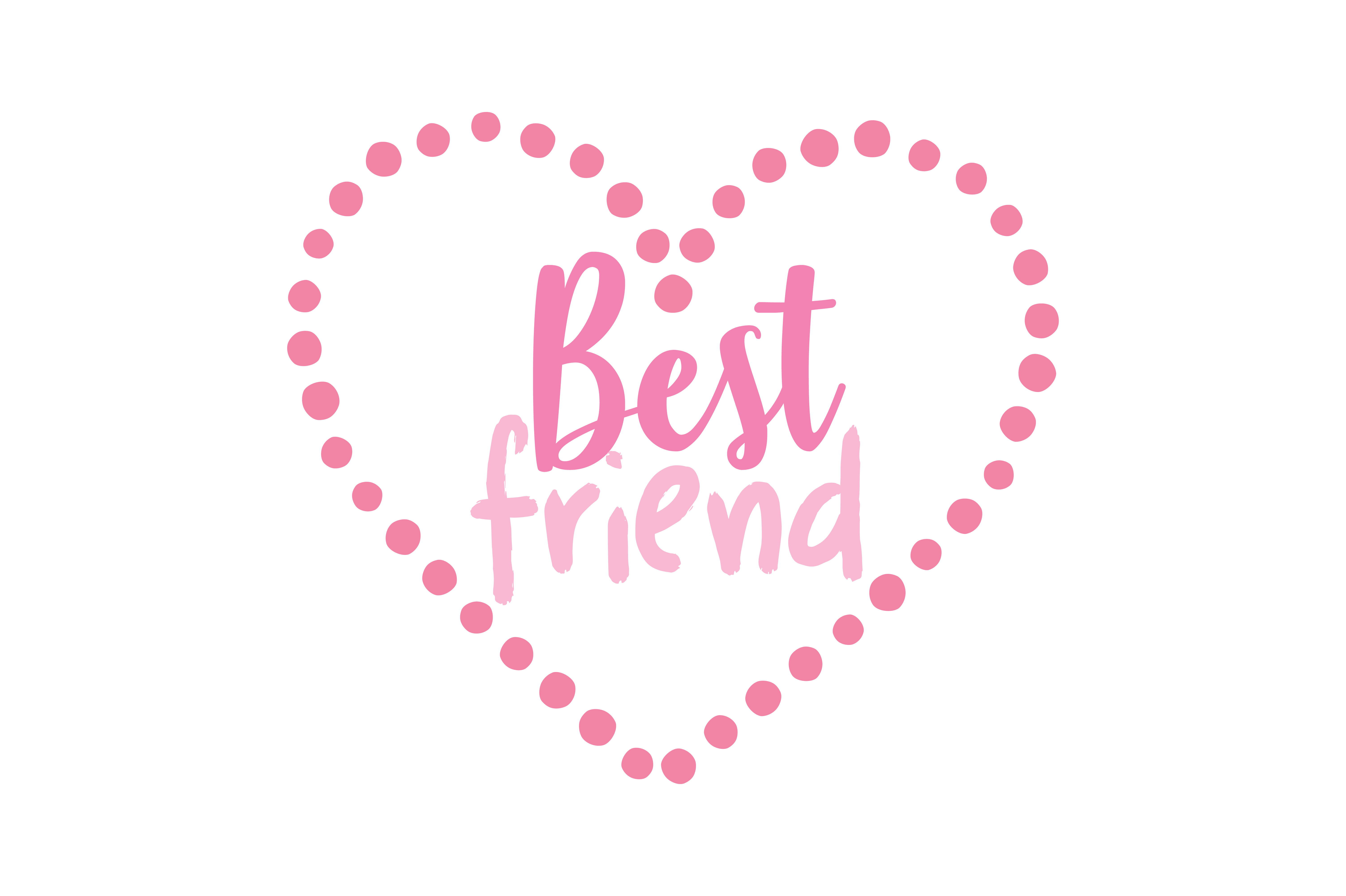 Download Free Best Friend Quote Svg Cut Graphic By Thelucky Creative Fabrica for Cricut Explore, Silhouette and other cutting machines.