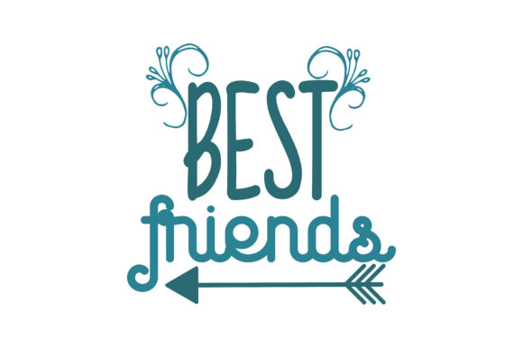 Download Free Best Friends Quote Svg Cut Graphic By Thelucky Creative Fabrica for Cricut Explore, Silhouette and other cutting machines.