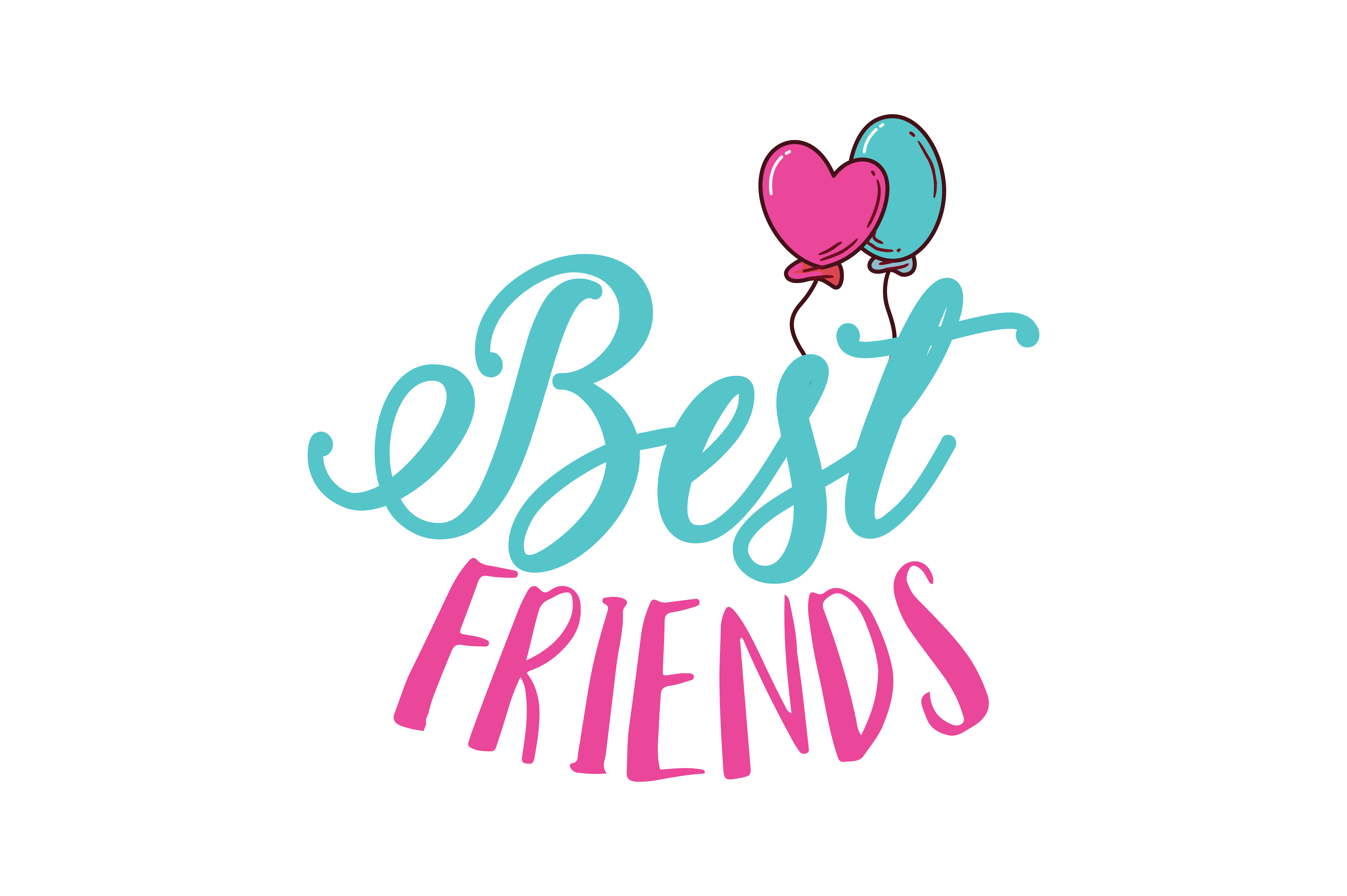 Download Free Best Friends Quote Svg Cut Graphic By Thelucky Creative Fabrica SVG Cut Files