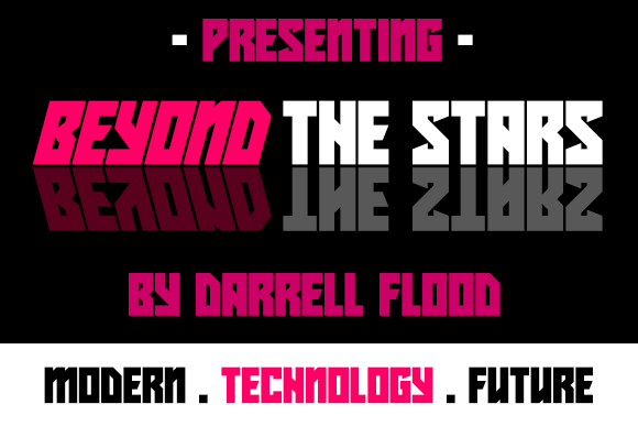 Print on Demand: Beyond the Stars Display Font By Dadiomouse