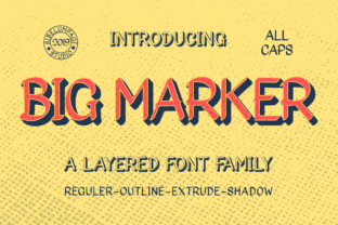 Big Marker Family Blackletter Font By Sibelumpagi Studio