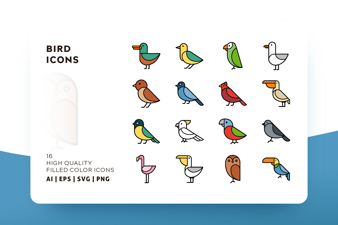 Download Free Birds Filled Color Graphic By Goodware Std Creative Fabrica SVG Cut Files