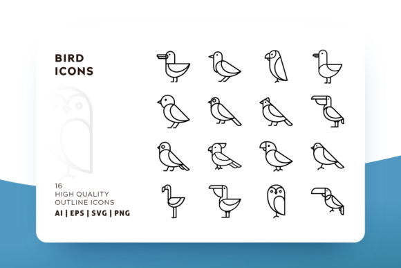 Birds Outline Graphic Icons By Goodware.Std