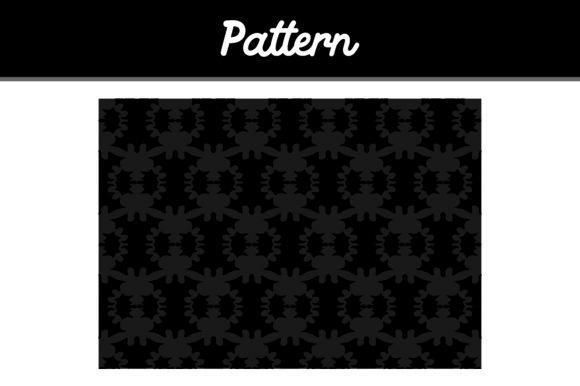 Black Background Ornament Pattern