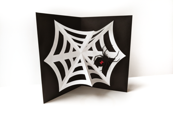 Download Free Black Widow Spider And Web Pop Up Card Svg Grafik Von for Cricut Explore, Silhouette and other cutting machines.