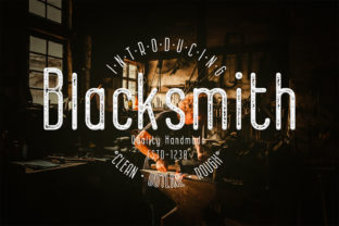 Print on Demand: Blacksmith Display Font By 38.lineart
