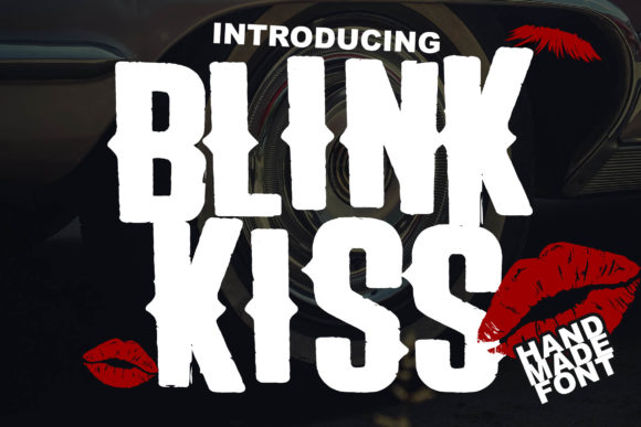 Print on Demand: Blink Kiss Display Font By Lettersiro Co.